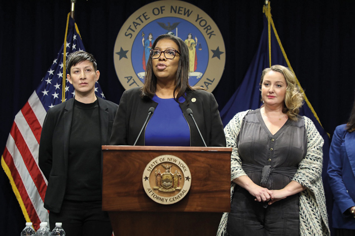 """Photo Courtesy of AG James's Office """"Our hope is that we can reduce the number of opioid-overdose deaths across New York and this nation and save millions of additional lives,"""" New York AG Tish James said."""