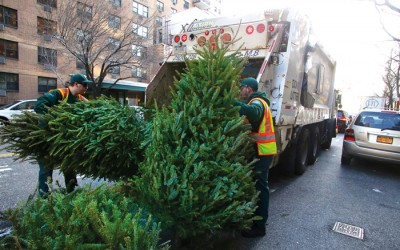 City Sanitation, Parks Departments Set for  'Tree-cycling' and Mulchfest