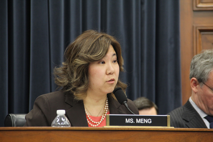 "File Photo  ""[C]oncerns about the coronavirus have hit many small businesses hard. We cannot let them suffer,"" Rep. Meng said. ""Government must be a strong partner in helping small businesses succeed and we must not abandon them in their time of need."""