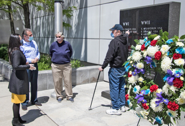 Photo Courtesy of the Borough President's Office The Coleman Square Memorial in Howard Beach