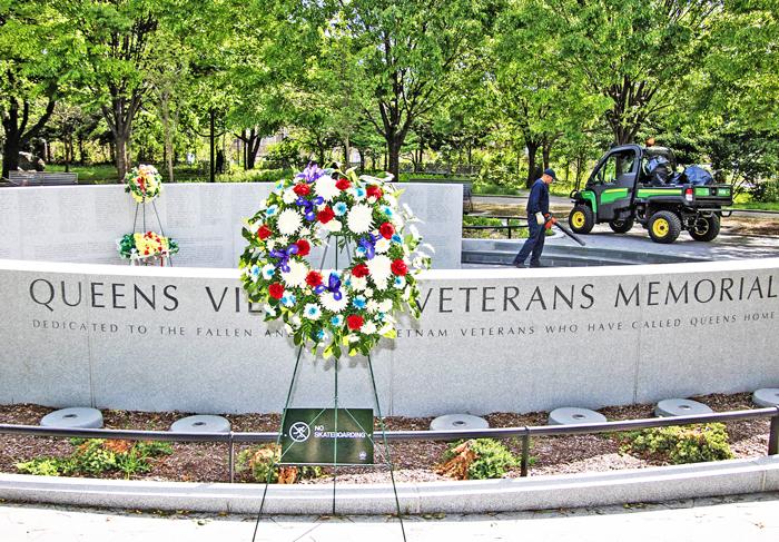 Photo Courtesy of the Borough President's Office The Queens Vietnam Veterans Memorial in Elmhurst