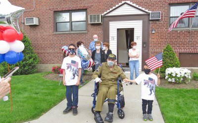 House Call for a Hero: Howard Beach Honors  WWII Vet with Memorial Day Salute