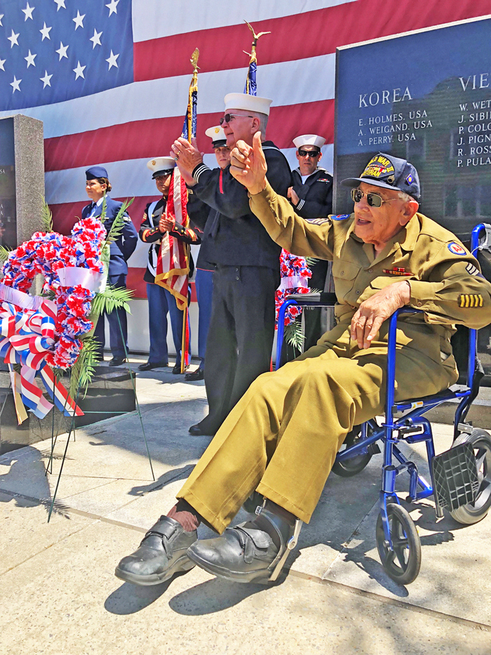 File Photo Butch Puccio, a fixture at area vet events, pictured here at a 2018 Veterans Day celebration in Coleman Square.
