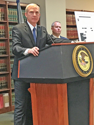 "File Photo ""The defendants allegedly gambled that they could pull off a high-stakes robbery with the benefit of inside information, but they ended up on the losing end of that bet,"" Brooklyn U.S. Attorney Donoghue said."