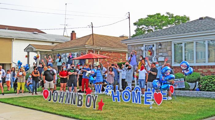 Forum Photo by Patricia Adams Howard Beach on Thursday welcomes home Johnny Boy DiLorenzo.