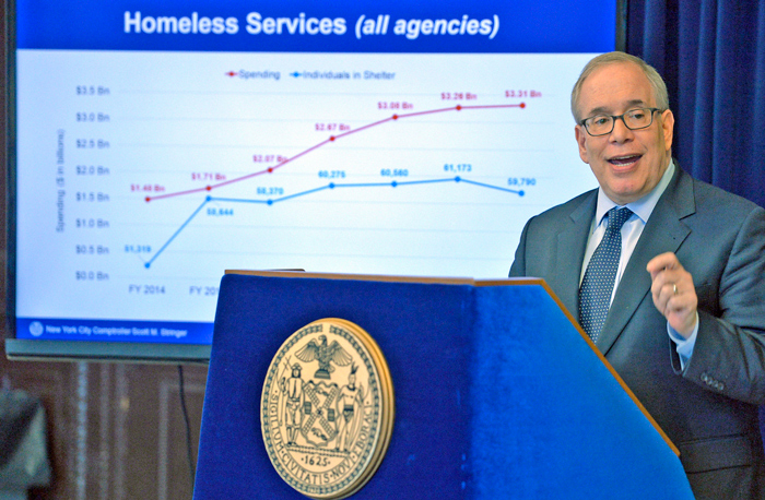 Photo Courtesy of Susan Watts/NYC Comptroller's Office According to Comptroller Stringer, his plan would net the City nearly $1.1 billion in accrued savings that could be redirected to other priorities, including helping the city to stave off cuts to other essential services.