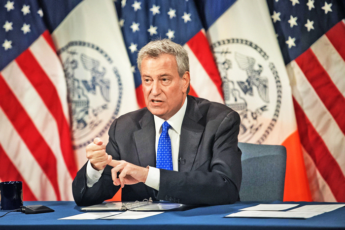 "Photo Courtesy of Michael Appleton/Mayoral Photography Office  ""From reinvesting funds from the NYPD in youth programming and social services, to building new community centers, this budget prioritizes our communities most in need while keeping New Yorkers safe,"" Mayor de Blasio said."