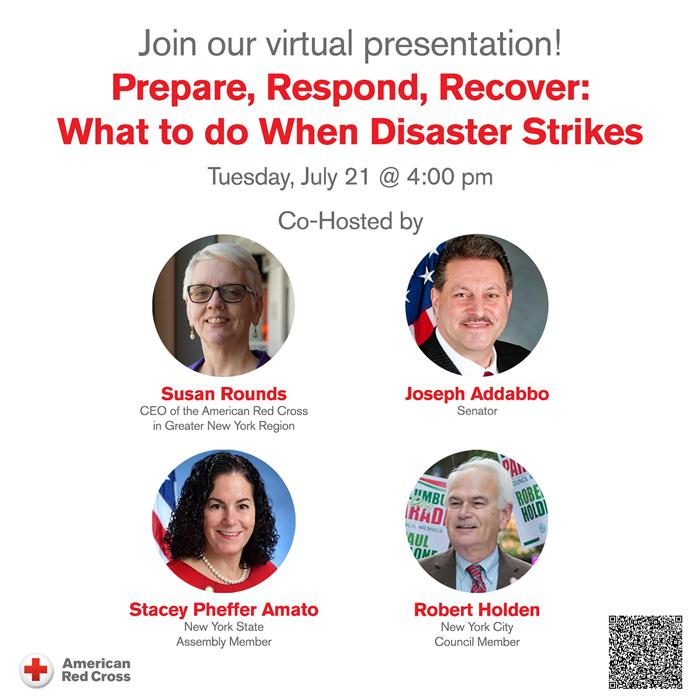 Borough Elected Officials Join Red Cross  for Virtual Preparedness Webinar