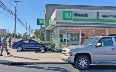 Driver Sends Car Careening into  Howard Beach TD Bank Branch