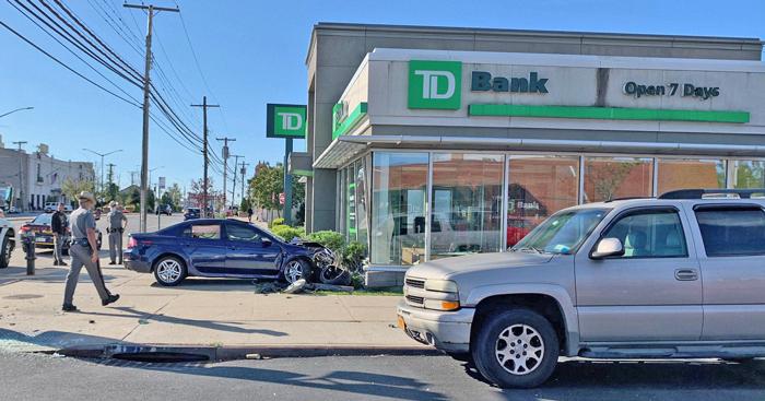 Driver Sends Car Careening into  Howard Beach TD Bank Branch