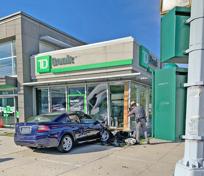 Forum Photo by Patricia Adams He lost control of the vehicle while allegedly fleeing a traffic stop in Howard Beach.