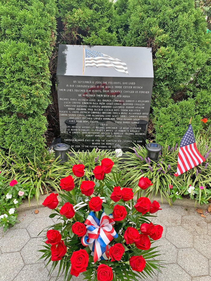 Photo Courtesy of Rep. Meng's Office The Glendale monument honors those from Glendale, Middle Village, Ridgewood, and Woodhaven who lost their lives in the attacks.