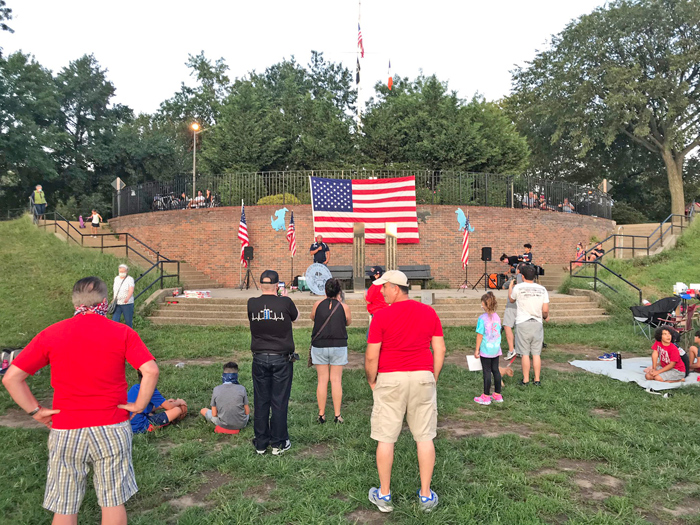 Photo Courtesy of Councilman Holden's Office Area residents attend the Juniper Park Sept. memorial service.