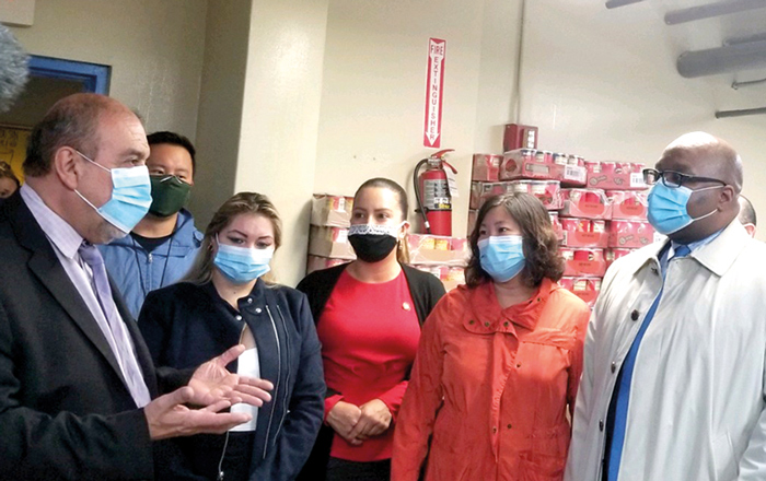 Meng Helps Deliver Food to Flushing Pantry