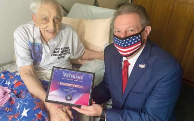 Butch Puccio, 99,  Inducted into State Senate Veterans Hall of Fame