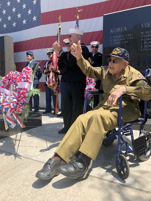 File Photo For decades, Butch and his wife Jennie have been fixtures at every Memorial Day and Veterans Day event in Howard Beach.