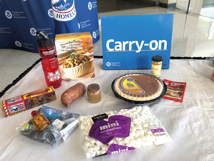TSA Dishes on how  to Travel with Thanksgiving Foods