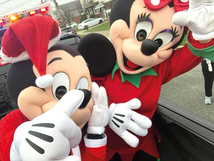 Minnie and Mickey even lent a hand on Saturday.