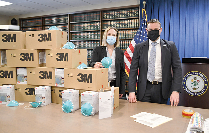 Queens DA Seizes 1.7M pieces of PPE Equipment from LIC Warehouse