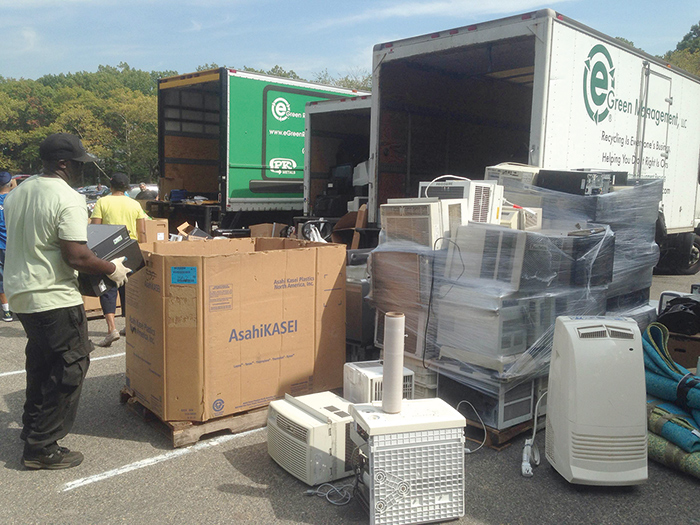 File Photo Through March 31, Addabbo's Howard Beach and Middle Village offices will be able to collect small electronics to be properlyrecycledthrough the City Department of Sanitation.