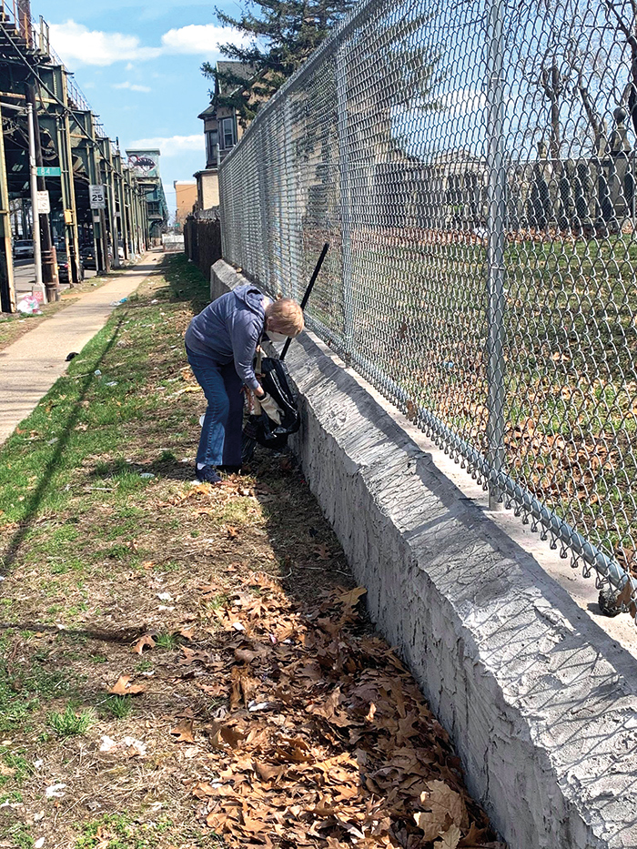 """Photo Courtesy of Ulrich's Office """"Quality of life issues, such as graffiti, is one of the biggest concerns of our residents. We won't stand by idly—we will continue to paint over graffiti no matter how many times we need to,""""said community activist Joann Ariola."""