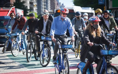 De Blasio Announces Record Creation of Bus and Bike Lanes Planned for 2021