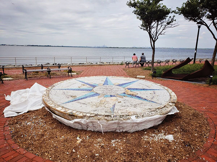 Photo Courtesy of NYC Parks Vandals recently defiled the Tribute Park 9/11 Memorial.